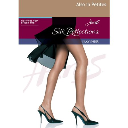 04356480a8e Hanes - Hanes Silk Reflections Control Top Sheer Toe Pantyhose ...