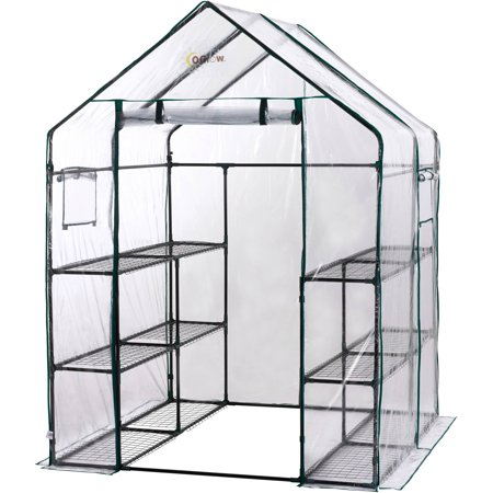 Ogrow Deluxe Mini Walk-In 6-Tier 12-Shelf Portable Greenhouse