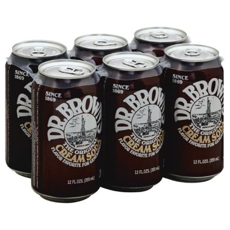 Dr Browns Caffeine Free The Original Cream Soda Soda, 72 Fo (Pack of 4)