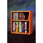 Wood Shed 211-1 W Solid Oak desktop or shelf for CDs and DVDs- VHS Tapes