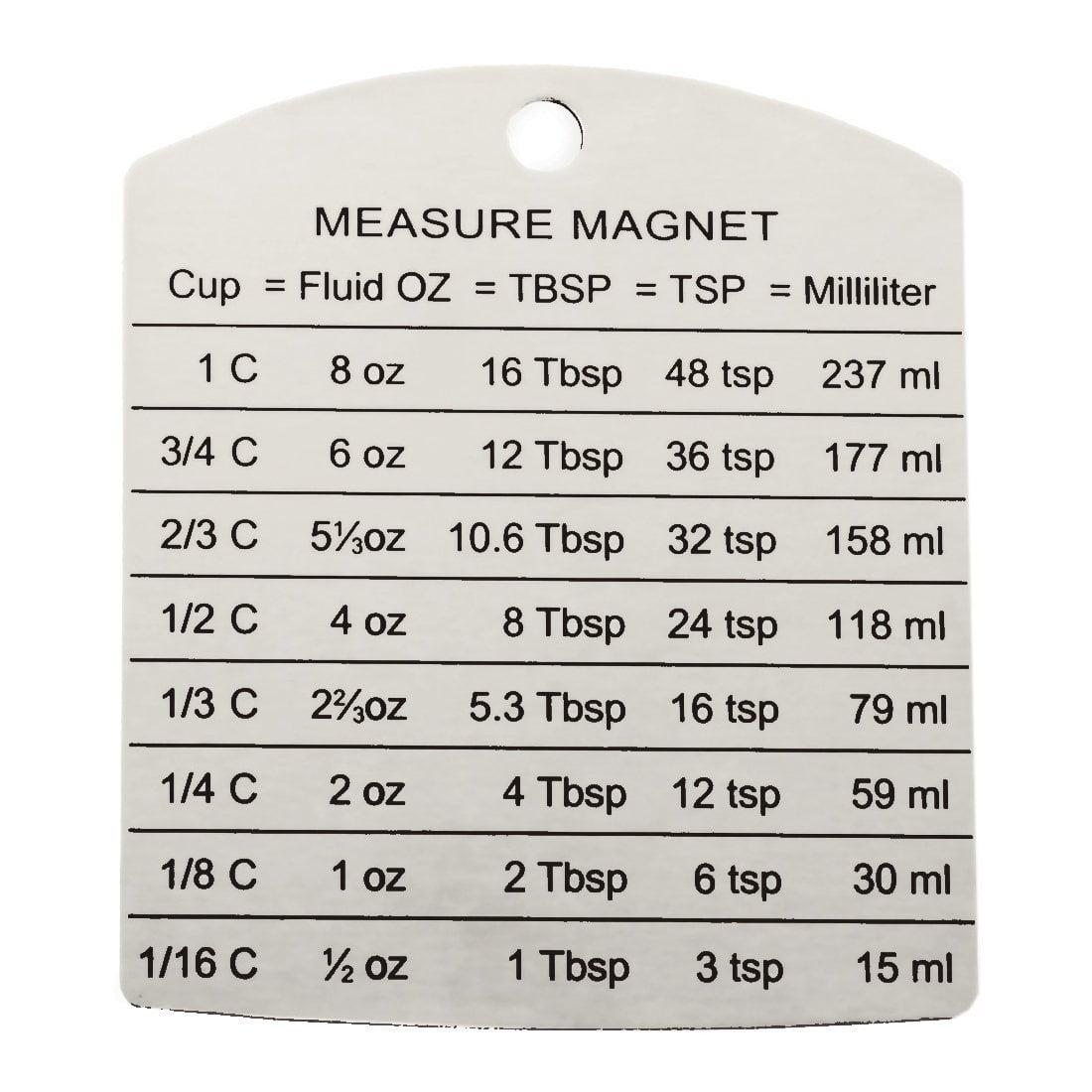 RSVP Endurance Stainless Steel Measure Conversion Magnet