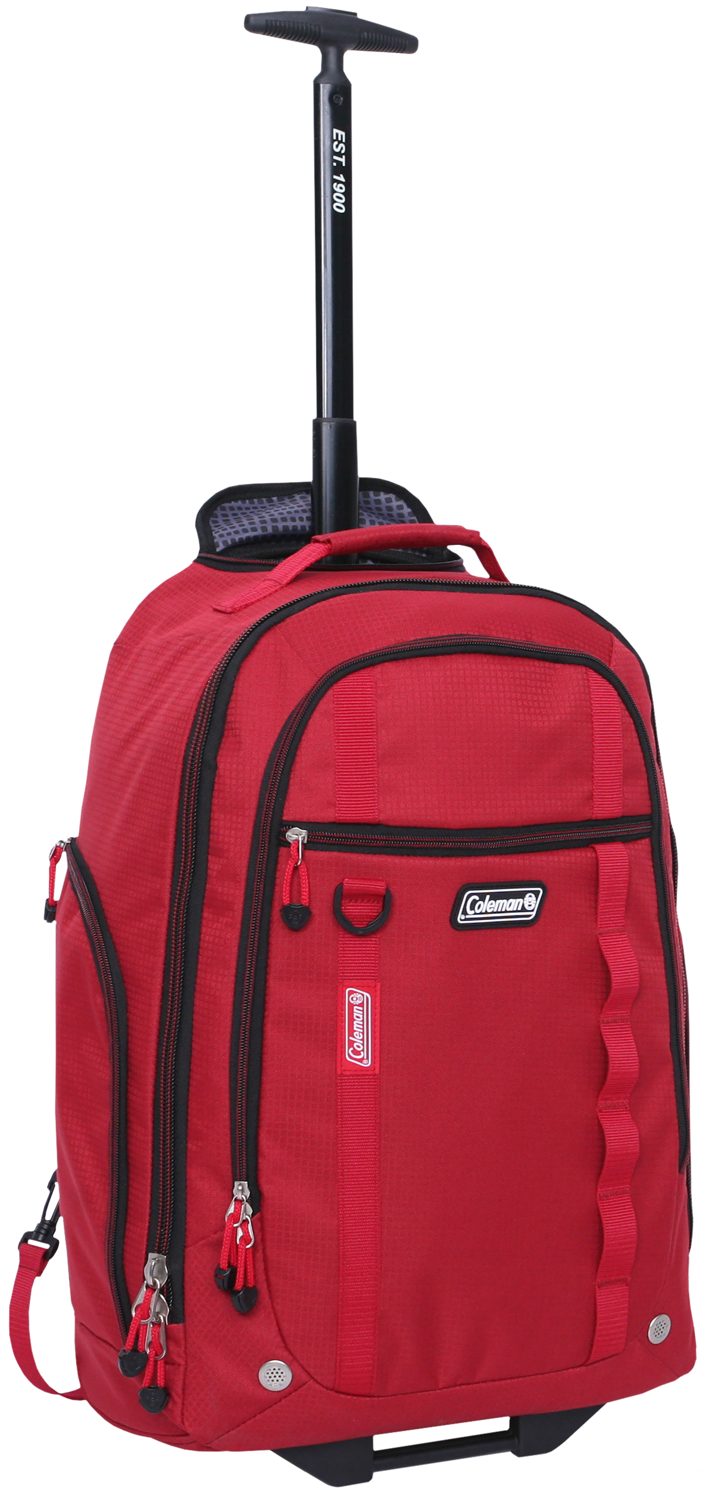 "Coleman 22"" Rolling Travel Backpack w  Telescopic Handle, Red by Olivet International Inc"