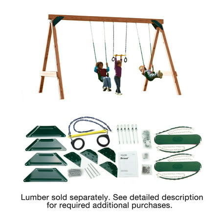 Swing-N-Slide Scout Swing Set DIY Hardware Kit (Wood Not Included)