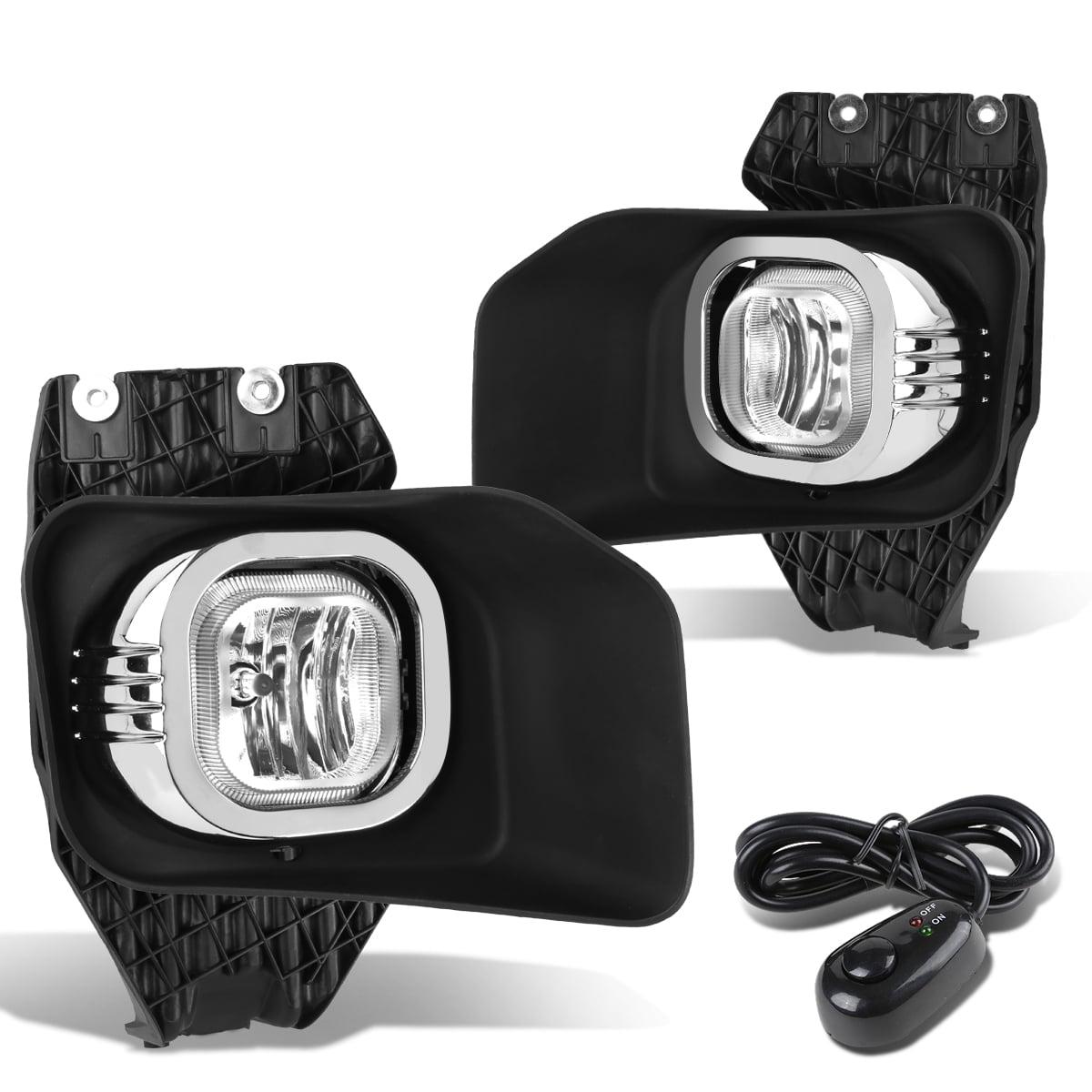 For 11-16 Ford F-250/350/450/550 Super Duty Pair Bumper Driving Fog Light/Lamp+Bezel+Switch Clear Lens 12 13 14 15
