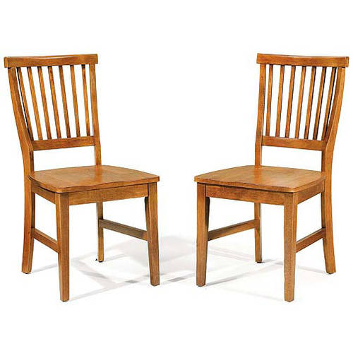 Home Styles Arts & Crafts Side Chair - Set of 2, Cottage Oak