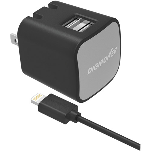 Digipower IS-AC3DL InstaSense 3.4A Dual USB Wall Charger