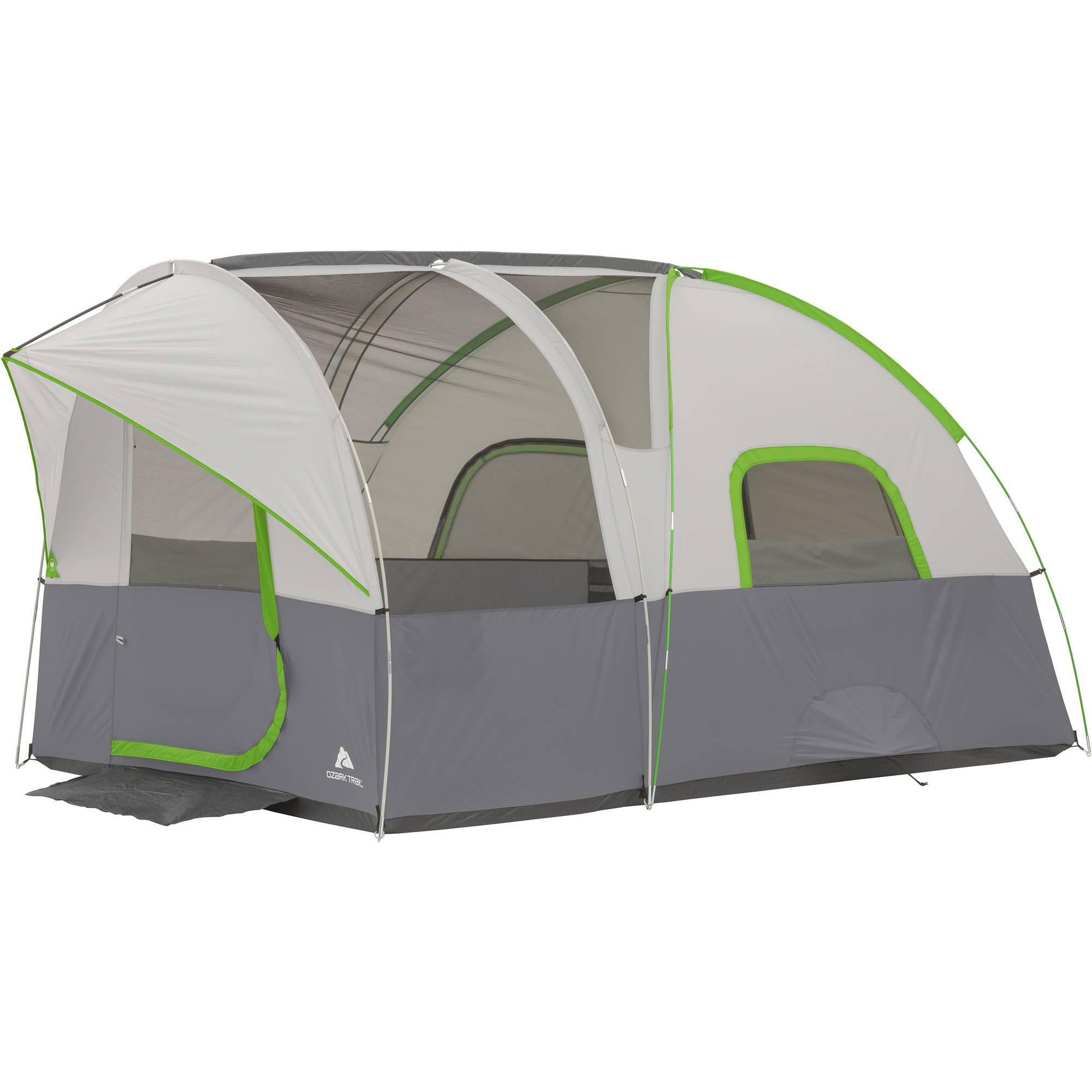 Ozark Trail 12u0027 x 8u0027 Modified Dome Tunnel Tent ...  sc 1 st  Walmart & Ozark Trail 12u0027 x 8u0027 Modified Dome Tunnel Tent Sleeps 6 - Walmart.com