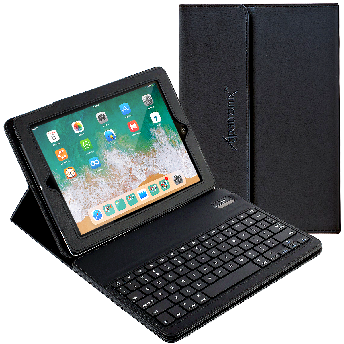 """iPad Pro 10.5 Keyboard + Leather Case, Alpatronix KX150 10.5"""" Bluetooth iPad Keyboard Folio Smart Case w/Removable Wireless Keyboard Cover & Built-in Tablet Stand for 2017 iPad Pro 10.5-inch"""