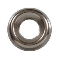 No.8 Finishing Washer  Nickel Plated Brass