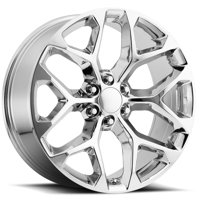 "Replica 176C GM Snowflake 22x9 6x5.5"" +24mm Chrome Wheel Rim 22"" Inch"