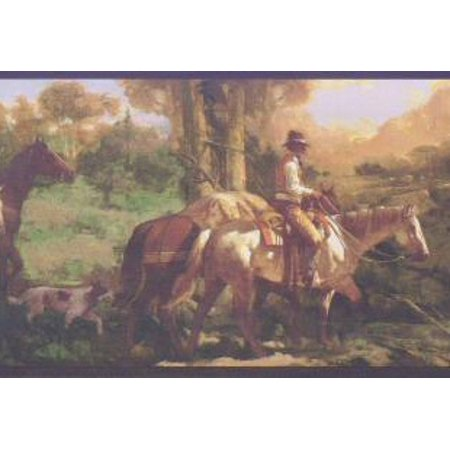 878567 Cowboy Western Horses Wallpaper Border