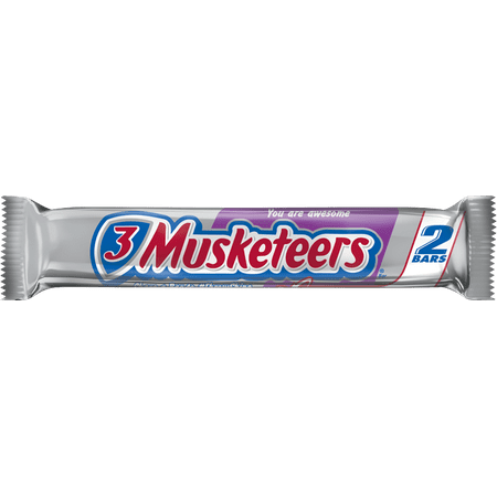 3 Musketeers, Sharing Size Chocolate Candy Bar, 3.28 Oz (Musketeer Cape)