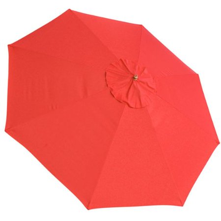 13 Ft 8 Rib Patio Replacement Outdoor Umbrella Top Sun Shade Canopy Red Oversized