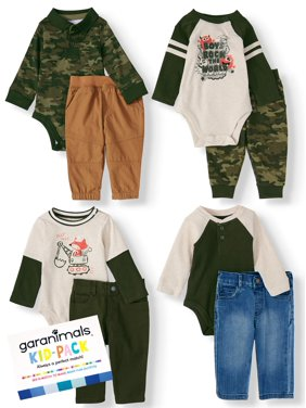 Garanimals Baby Boy Kid-Pack Gift Box, 8pc Set