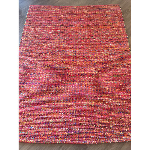 AM Home Textiles Hand-Woven Red Area Rug