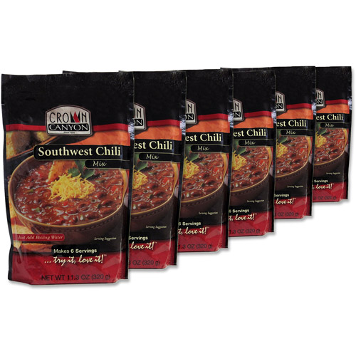 Augason Farms Emergency Food Crown Canyon Southwest Chili Mix, 11.3 oz (Pack of, 6)