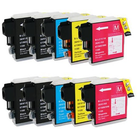 Universal Inkjet Compatible Multipack for Brother LC61, 10-Pack ()