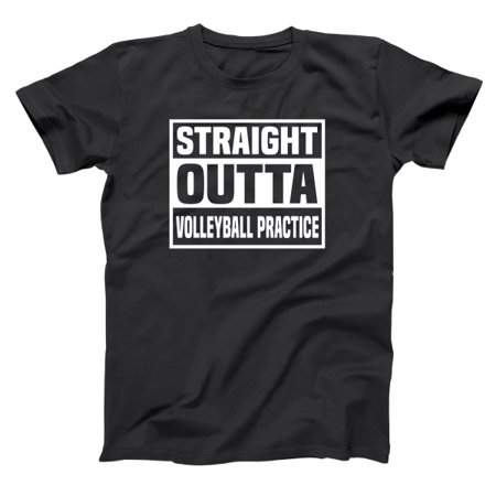 Straight Outta Volleyball Practice Small Black Basic Men's T-Shirt ()