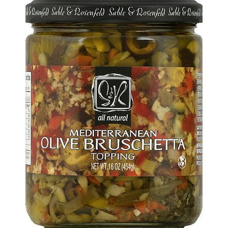 Sable & Rosenfeld Mediterranean Olive Bruschetta, 16 oz, (Pack of 6)