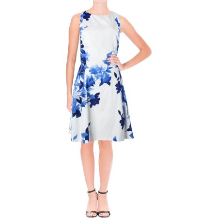 Lauren Ralph Lauren Womens Teva Neroli Floral Print Sleeveless Cocktail Dress