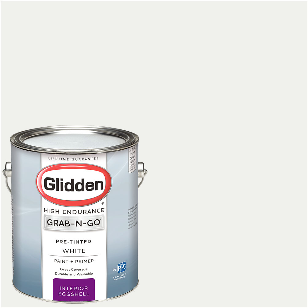 Glidden Pre Mixed Ready To Use, Interior Paint and Primer, White by PPG Architectural Coatings