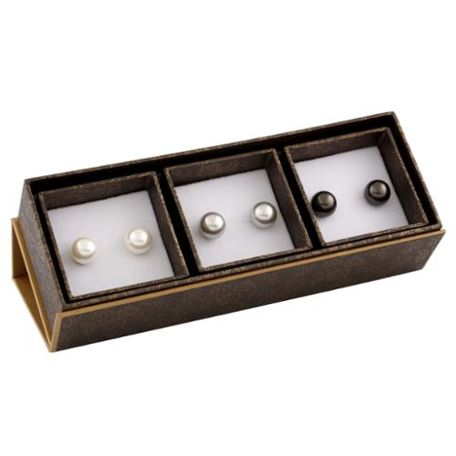 Gilo Creations Sterling Silver Pearl Stud Earrings (9-10mm)