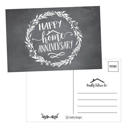 25 Chalk Happy Home Anniversary Realtor Cards, Blank Greeting House Postcards, Bulk Real Estate Thank You Notes, Welcome Home Realtor Gifts Stationery, New Realtor Gifts For Clients, Housiversary Card](Happy Halloween Postcards)