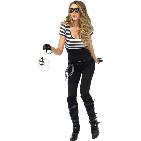 Leg Avenue Women's Bank Robber Thief - Robber Costumes