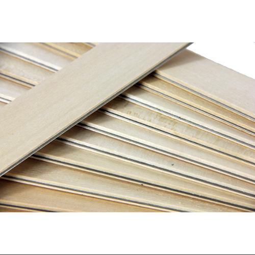 Club Pack of 25 Natural Colored Wooden Straight Edges with Metal Strips - 12""