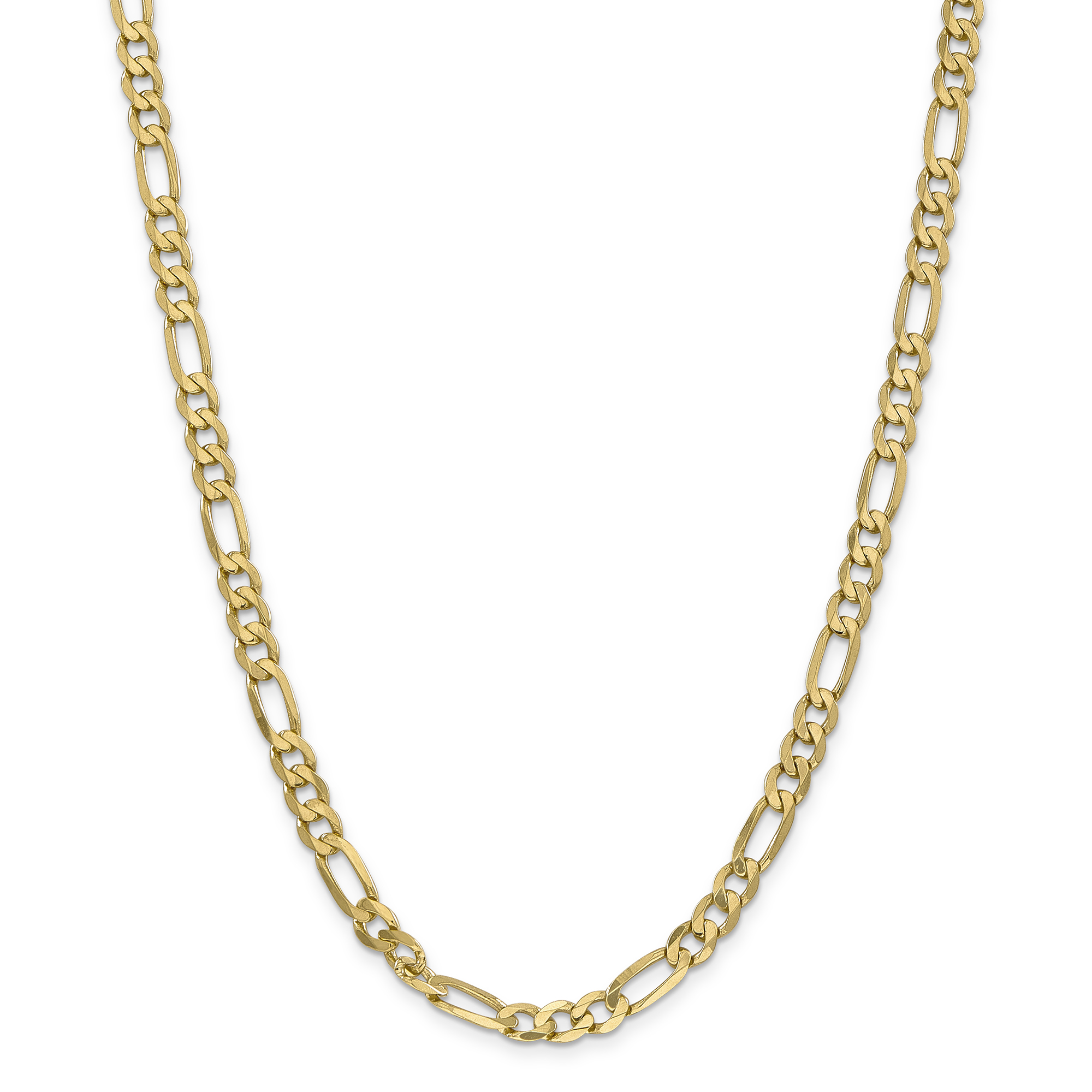 14k Yellow Gold 6.25mm Flat Link Figaro Chain Necklace 24 Inch Pendant Charm Fine Jewelry Gifts For Women For Her - image 5 de 5