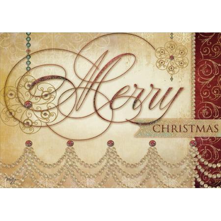 Glitter Christmas Cards.Lpg Greetings Sparkling Merry Christmas Box Of 14 Glitter Christmas Cards