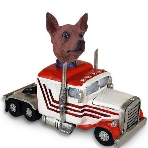Conversation Miniature Pinscher Red & Brown Truck Tractor...