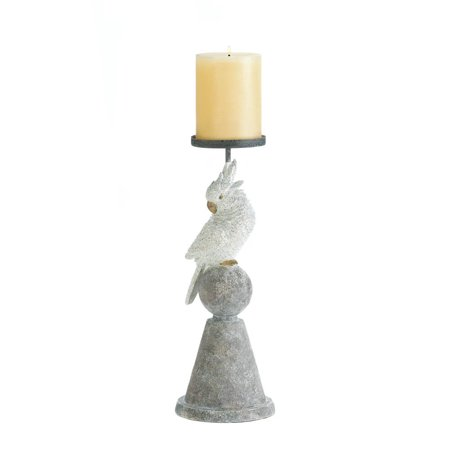 Large Pillar Candle Holders, Modern Grey Pedestal Candle Holder Pillar Candles