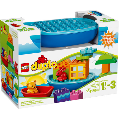 LEGO DUPLO Creative Play Toddler Build and Boat Fun Building Set ...