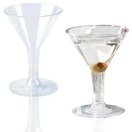 Kaya Collection - Plastic Clear Martini Glasses - 2oz Mini Disposable Cocktail Cups (192 Glasses)](Martini Plastic Cups)