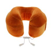 Cabeau™ Evolution Memory Foam Travel Neck Pillow - The Best Travel Pillow with 360 Head, Neck and Chin Support, Orange