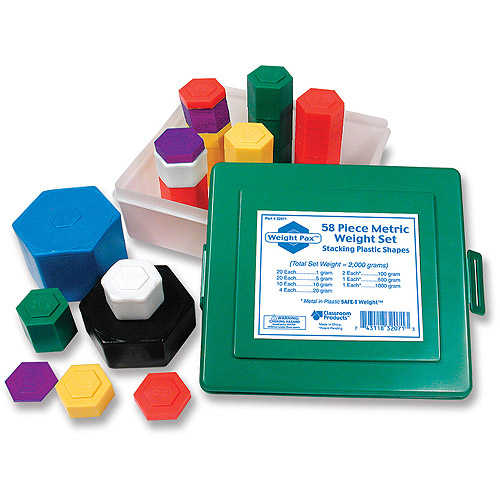 Learning Resources Weight Pax Metric Weights, Set of 58 with Box