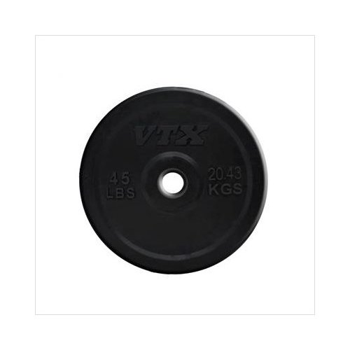 Troy Barbell VTX 45 lbs Solid Rubber Bumper Plate