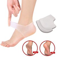66d3f6c586 Yosoo 2PCS Silicone Moisturizing Gel Heel Socks Cracked Foot Sleeves Pain  Relief Air Holes