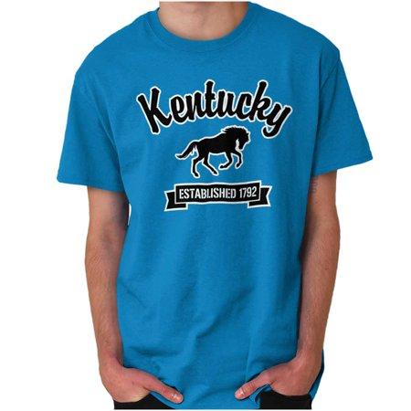 Brisco Brands Kentucky Airport Souvenir Gift Short Sleeve Adult T-Shirt ()