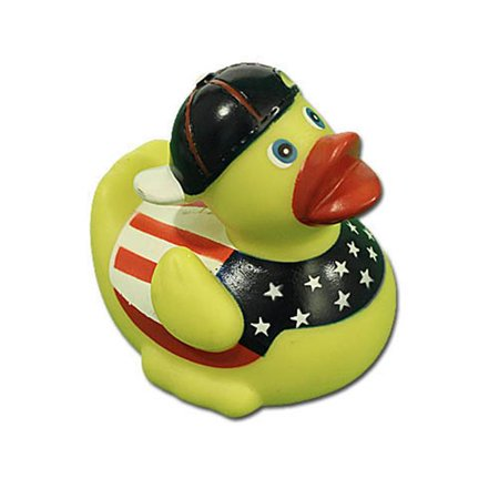 Patriotic Duck (rubber duck patriotic stars & stripes, waddlers brand american patriotic rubber ducks that race upright july 4th rubber duck race. kids bath toy birthday party & baby shower gift)