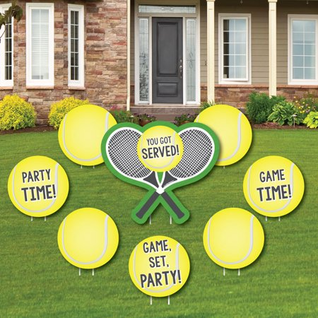 You Got Served - Tennis - Yard Sign & Outdoor Lawn Decorations - Baby Shower or Tennis Ball Birthday Party Yard Signs-8c - Baby Announcement Signs For Yard