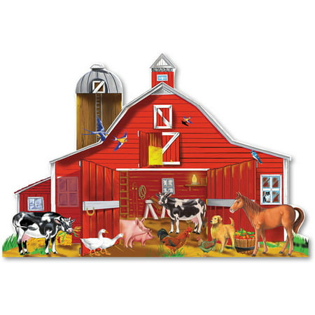 "Melissa & Doug Farm Friends Floor Puzzle (Easy-Clean Surface, Promotes Hand-Eye Coordination, 32 Pieces, 24"" L x 36"" W)"