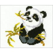 "Panda Counted Cross Stitch Kit, 7"" x 6"" 10 Count"