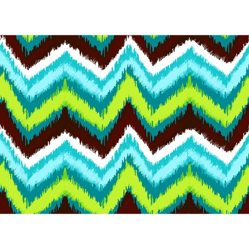 Creative Cuts Ikat Chevrons Canvas Fabric By The Yard, Blue