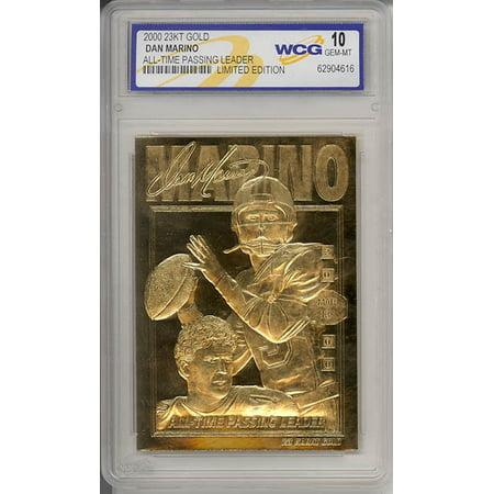 DAN MARINO 2000 23KT Gold Card NFL All-Time Passing Leader Graded GEM MINT 10