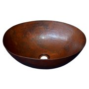 """Native Trails Cps69 Maestro Oval 17-1/4"""" Copper Vessel Bathroom Sink"""