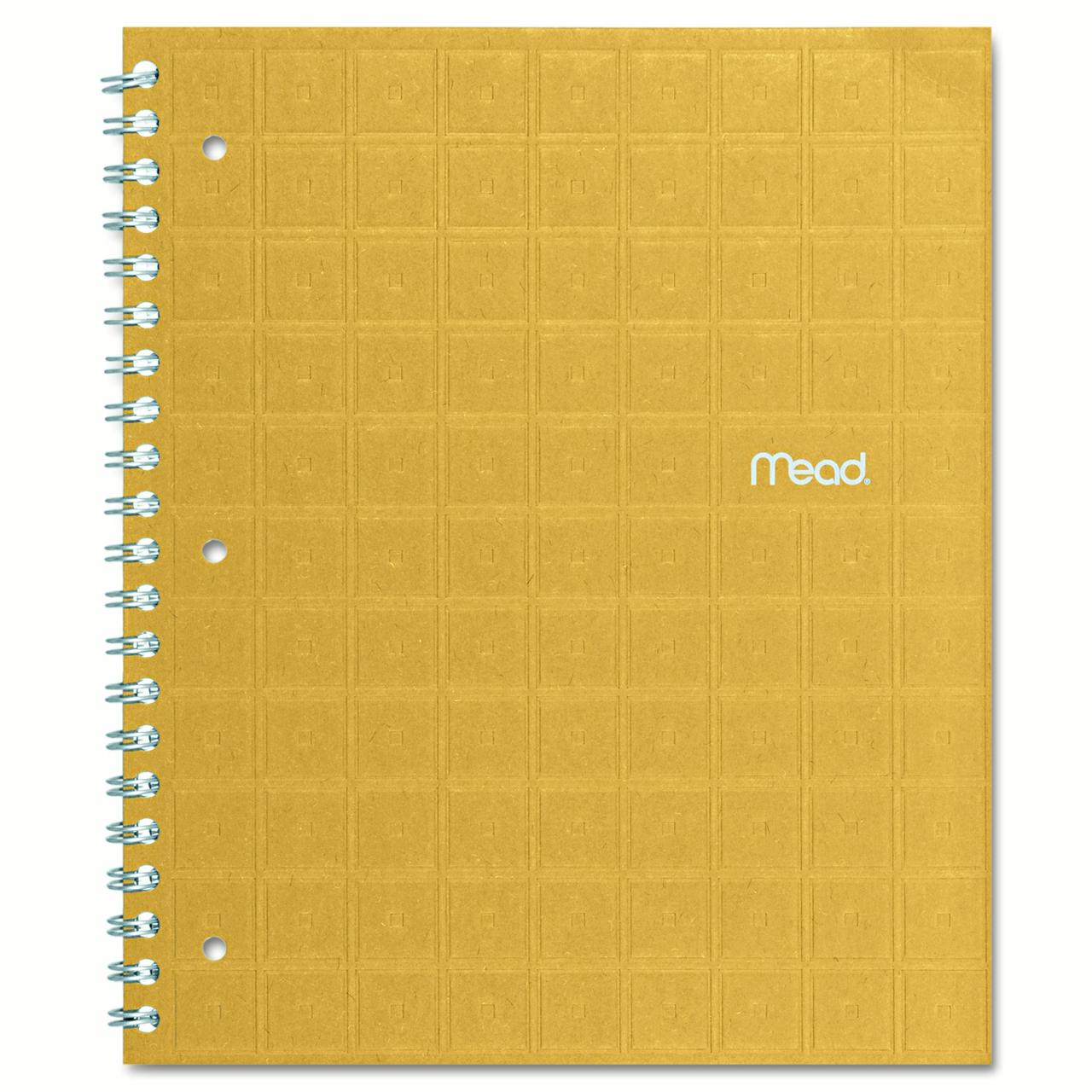 Mead Recycled Notebook, College Ruled, 8 1/2 x 11, 80 Sheets, Perforated, Assorted