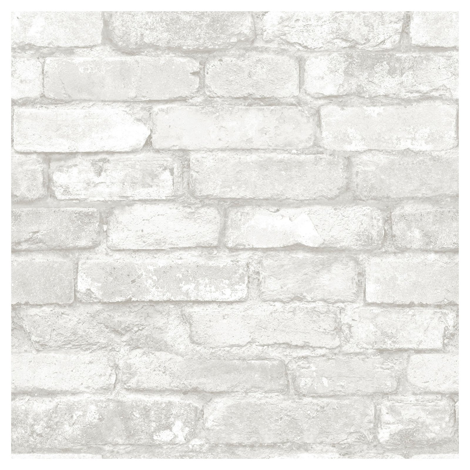 Brewster Brick White Peel And Stick Wallpaper