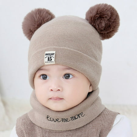 Grey Wool Hat (New Autumn Winter Christmas Hat Baby Boys Girls Hat Warm Windproof Wool Hat Toddler Kids Boy Girl Children's Lovely Cute Soft Beanie Hat Cap )